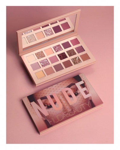 Тени для глаз Huda Beauty New Nude Eyeshadow Palette 18 цветов