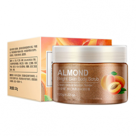 Пилинг-скраб для тела с Миндалем BioAqua Almond Bright Skin Body Scrub 120гр