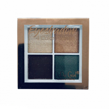 Тени для век шиммерные+матовые DoDo Girl Eyeshadow 4 цвета, тон 02